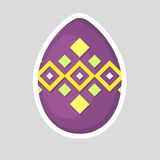 Easter purple egg icon isolated on a gray background. Royalty Free Stock Images