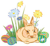 Easter rabbit. Drawing of an easter rabbit Stock Photo