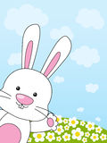 Easter rabbit. On floral meadow Royalty Free Stock Images