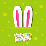Easter rabbit. Easter card with rabbit ears vector illustration