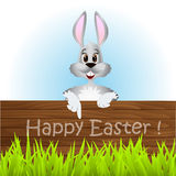 Easter rabbit. On a white background Royalty Free Stock Photo