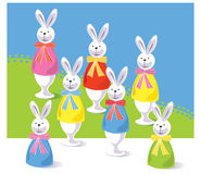 Easter rabbit. Vector illustration cartoon easter, rabbit Royalty Free Stock Photo