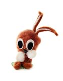 Easter rabbit. Easter plushy decoration - rabbit with big eye Stock Image