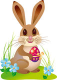 Easter rabbit. With easter egg Royalty Free Stock Photography