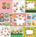 Easter Rabbit And Egg Card Royalty Free Stock Image