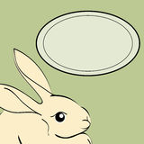 Easter Rabbit animal frame text. Stock Images