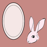 Easter Rabbit animal frame text. Stock Image
