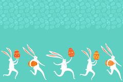 Easter rabbit background Stock Photography