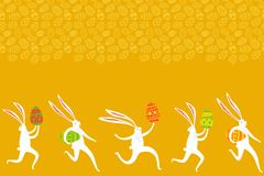 Easter rabbit background Royalty Free Stock Images