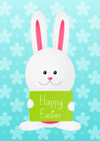 Easter rabbit on blue background Stock Images