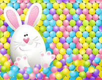 Easter rabbit in candies Royalty Free Stock Photography