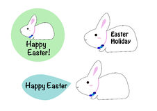 Easter rabbit cartoon Royalty Free Stock Images