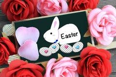 Easter rabbit cartoon drawn on chalkboard Royalty Free Stock Photography