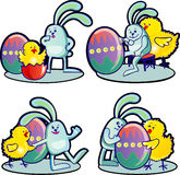 Easter rabbit and chicken Royalty Free Stock Images
