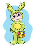 Easter rabbit child Stock Image