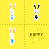 Easter rabbit with colorful egg. Vector illustration. Easter bunny with colorful egg. Rabbit Vector illustration Royalty Free Stock Photos