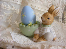 Easter rabbit. Decoration with egg Royalty Free Stock Photography