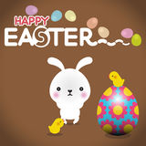 Easter rabbit with Easter egg Royalty Free Stock Photos