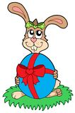 Easter rabbit with egg Stock Images