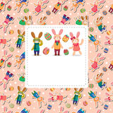 Easter rabbit and egg card Stock Photos