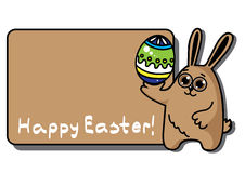 Easter  rabbit with egg Royalty Free Stock Photo