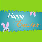 Easter rabbit and egg in grass Stock Photo