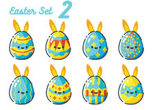 Easter Rabbit Egg set 2. Concept Royalty Free Stock Photo