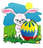 Easter rabbit and eggs Stock Image