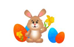 Easter Rabbit with eggs Royalty Free Stock Photos