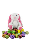 Easter rabbit with eggs, Easter concept Royalty Free Stock Images