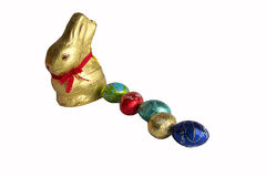 Easter rabbit with eggs. A sweet Easter bunny with eggs Stock Images