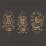 Easter Rabbit Emblem Royalty Free Stock Photography
