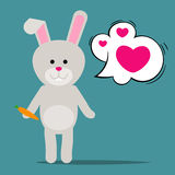 Easter rabbit or Funny bunny Stock Photos