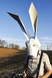Easter rabbit in geometric mask. Royalty Free Stock Images