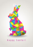 Easter rabbit geometric vector Royalty Free Stock Image