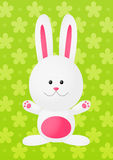 Easter rabbit on green Stock Image