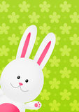Easter rabbit on green Royalty Free Stock Images