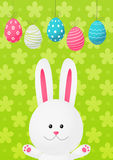 Easter rabbit on green background Stock Photography