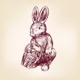 Easter rabbit hand drawn vector Stock Photo
