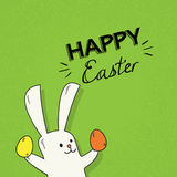 Easter Rabbit Hold Decorated Colorful Egg Holiday Symbols Royalty Free Stock Images