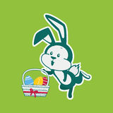 Easter Rabbit Icon Egg Design Flat Stock Photos