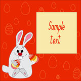 Easter rabbit.  illustration Stock Photography