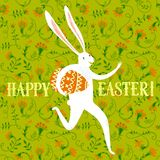 Easter rabbit illustration Royalty Free Stock Photo