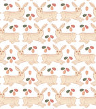 Easter rabbit pattern Stock Photography