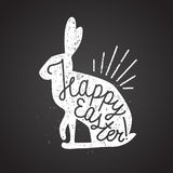 Easter rabbit rubber stamp. Vector illustration Royalty Free Stock Images