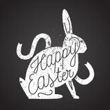 Easter rabbit rubber stamp. vintage label. Royalty Free Stock Photography