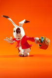 Easter rabbit run Stock Photo