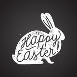 Easter rabbit sign calligraphy. vector illustration. Easter rabbit sign calligraphy. chalk handwriting. vector illustration Royalty Free Stock Photography