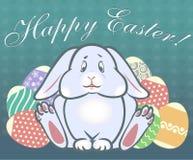 Easter rabbit sitting stock image