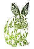 Easter Rabbit. Tattoo design Stock Photos